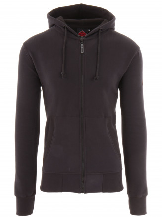 Mens Stamp Full Zip Hoody Black