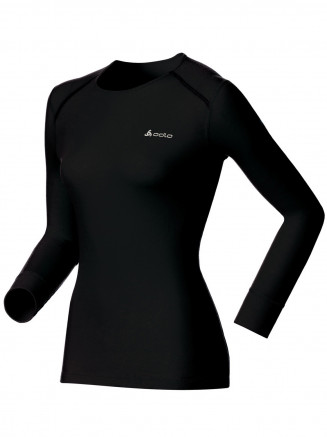 Womens Base Layer Warm Long Sleeve Crew Neck Black