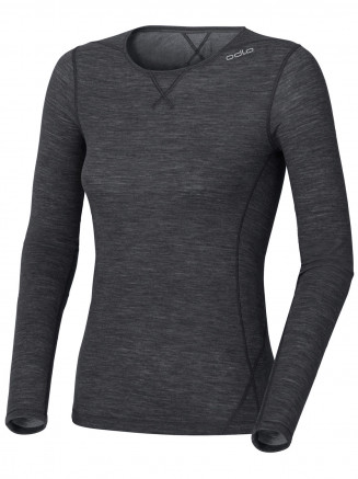 Womens Base Layer Revolution Long Sleeve Crew Neck Black