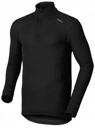 Mens Base Layer Warm Long Sleeve Turtle Neck Black