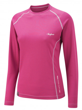 Womens Sandford Crew Neck Baselayer Pink