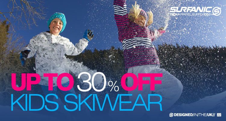 30% Off Kids Ski-wear